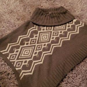 Asymmetrical poncho